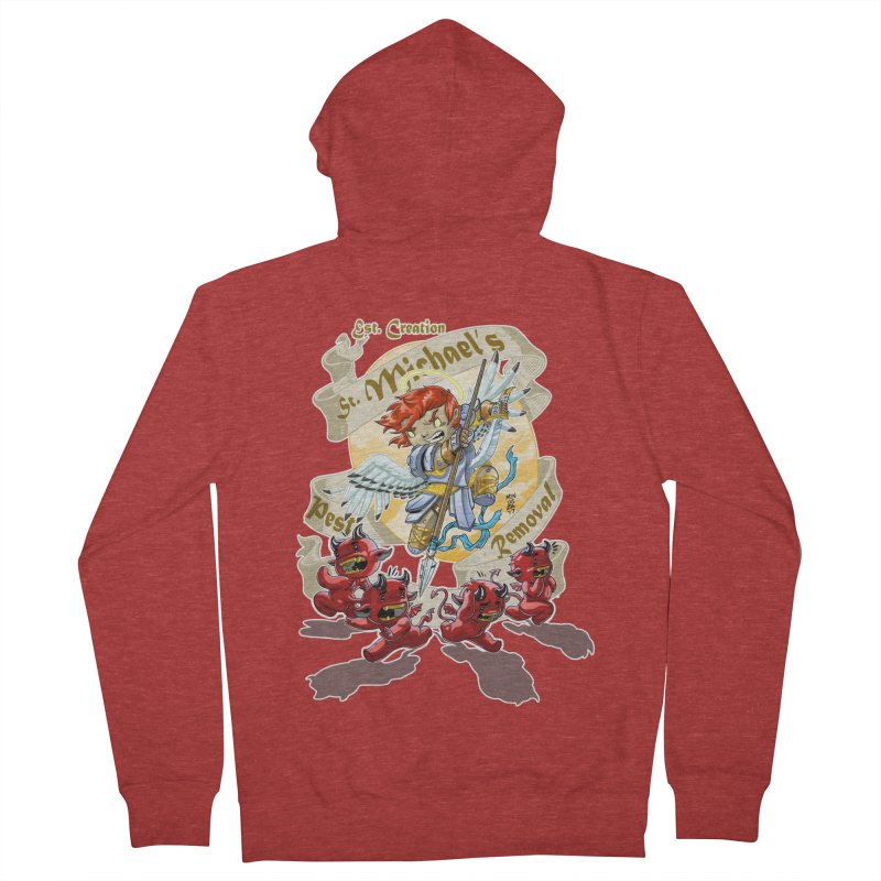 St. Michael's Pest Removal Women's French Terry Zip-Up Hoody by Little Ninja Studios