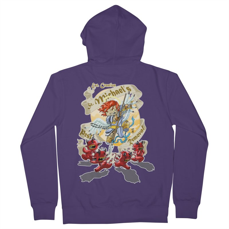 St. Michael's Pest Removal Women's French Terry Zip-Up Hoody by Little Ninja Studios, LLC