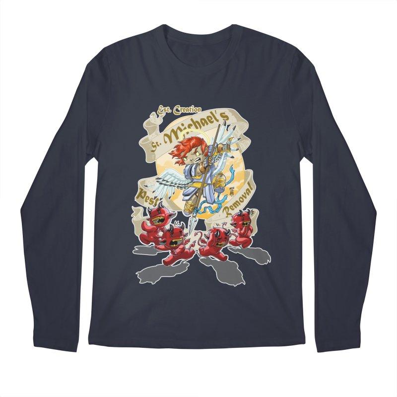St. Michael's Pest Removal Men's Regular Longsleeve T-Shirt by Little Ninja Studios, LLC