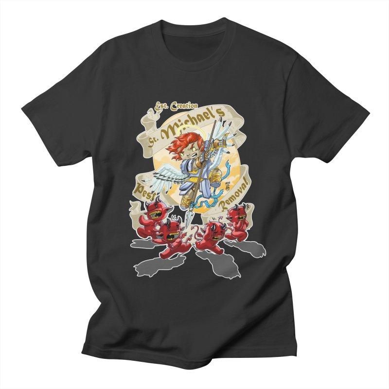 St. Michael's Pest Removal Women's Regular Unisex T-Shirt by Little Ninja Studios, LLC