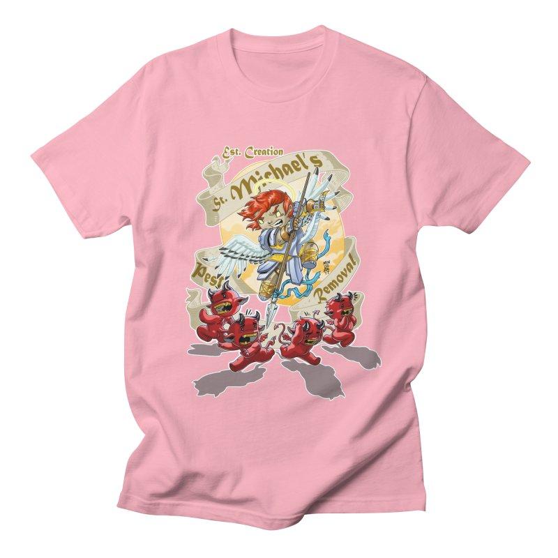 St. Michael's Pest Removal Men's Regular T-Shirt by Little Ninja Studios, LLC