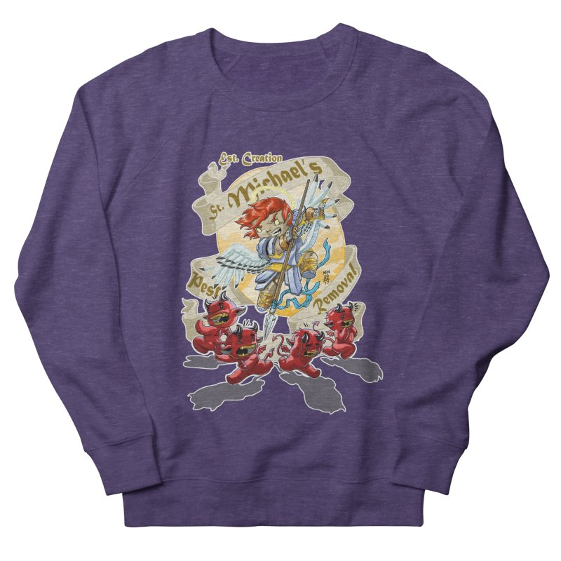 St. Michael's Pest Removal Women's French Terry Sweatshirt by Little Ninja Studios, LLC
