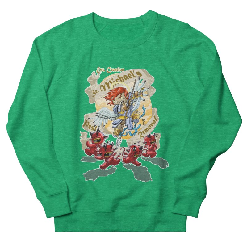 St. Michael's Pest Removal Men's French Terry Sweatshirt by Little Ninja Studios