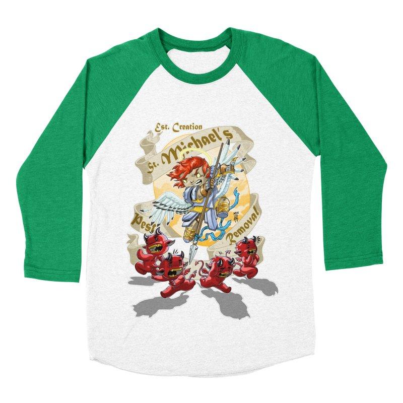 St. Michael's Pest Removal Women's Baseball Triblend Longsleeve T-Shirt by Little Ninja Studios