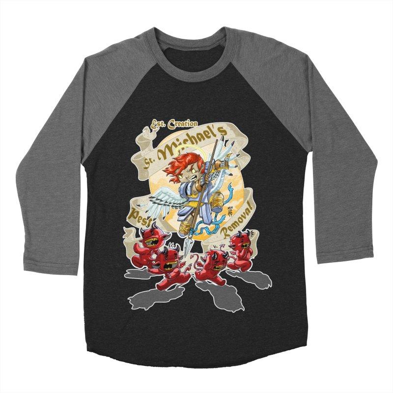 St. Michael's Pest Removal Women's Baseball Triblend Longsleeve T-Shirt by Little Ninja Studios, LLC