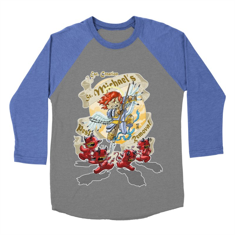 St. Michael's Pest Removal Men's Baseball Triblend Longsleeve T-Shirt by Little Ninja Studios, LLC
