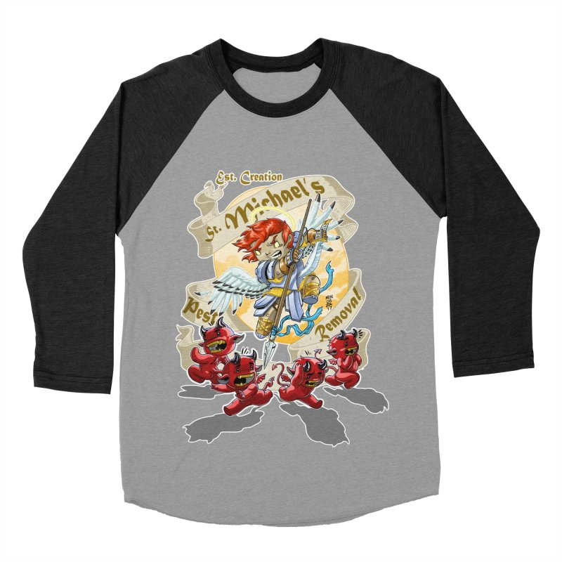 St. Michael's Pest Removal Men's Baseball Triblend Longsleeve T-Shirt by Little Ninja Studios, LLC