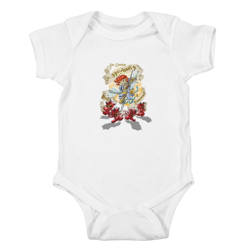 St. Michael's Pest Removal Kids Baby Bodysuit by Little Ninja Studios, LLC