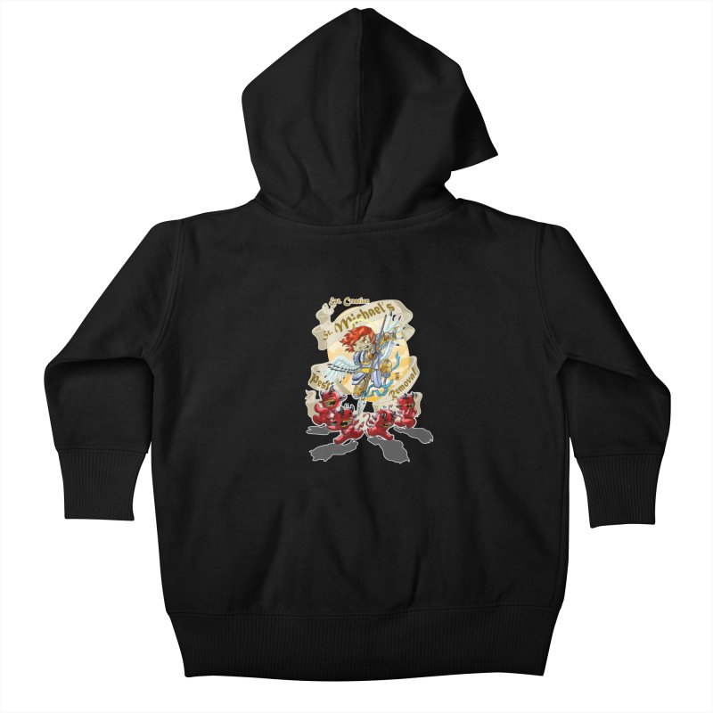 St. Michael's Pest Removal Kids Baby Zip-Up Hoody by Little Ninja Studios