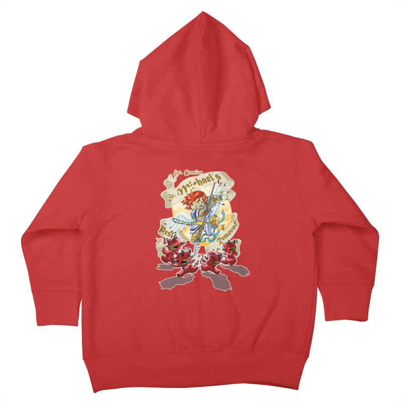 St. Michael's Pest Removal Kids Toddler Zip-Up Hoody by Little Ninja Studios