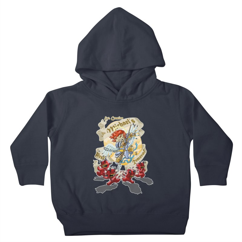 St. Michael's Pest Removal Kids Toddler Pullover Hoody by Little Ninja Studios