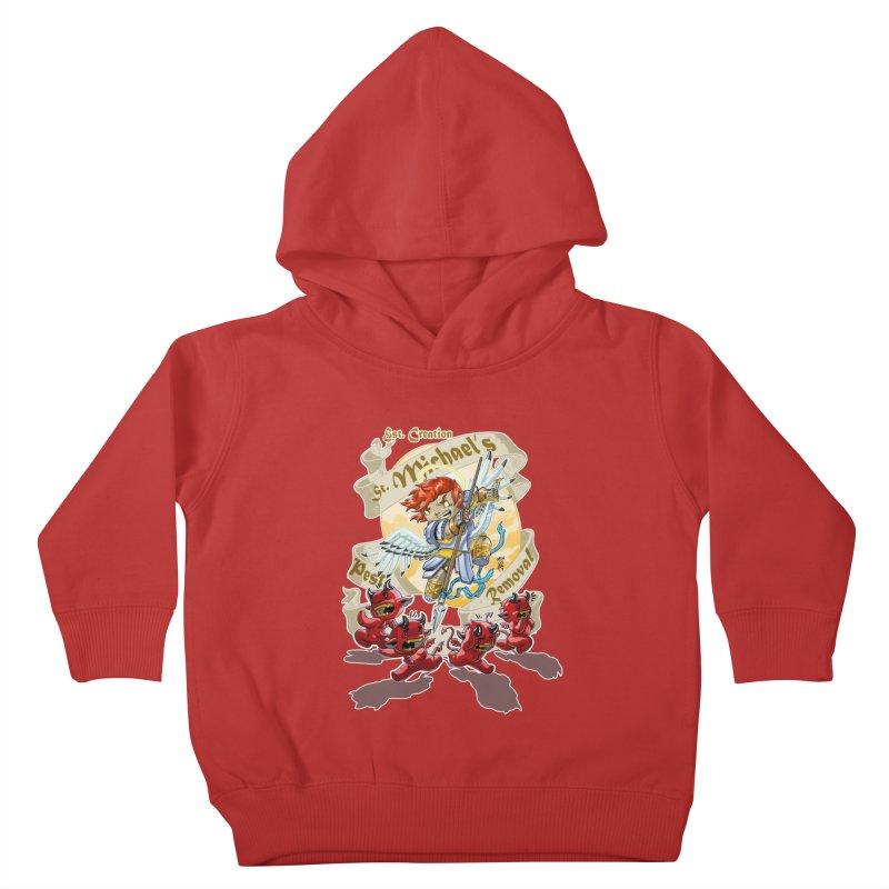 St. Michael's Pest Removal Kids Toddler Pullover Hoody by Little Ninja Studios, LLC