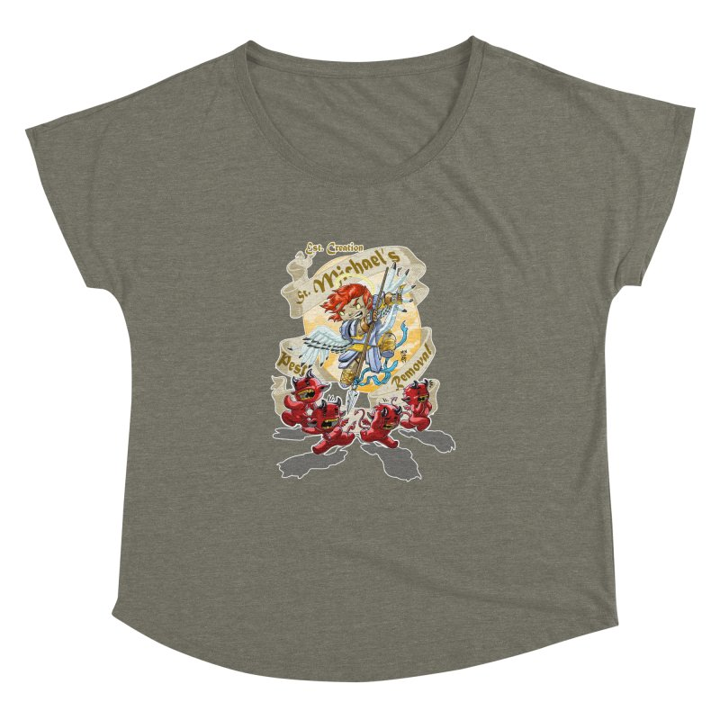 St. Michael's Pest Removal Women's Dolman Scoop Neck by Little Ninja Studios, LLC