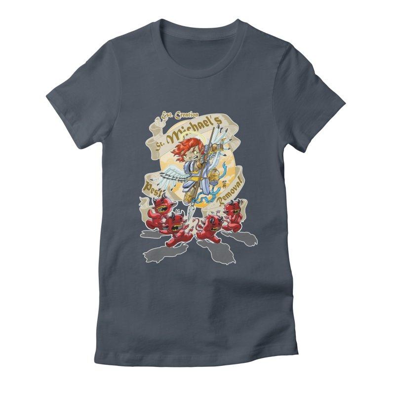St. Michael's Pest Removal Women's T-Shirt by Little Ninja Studios