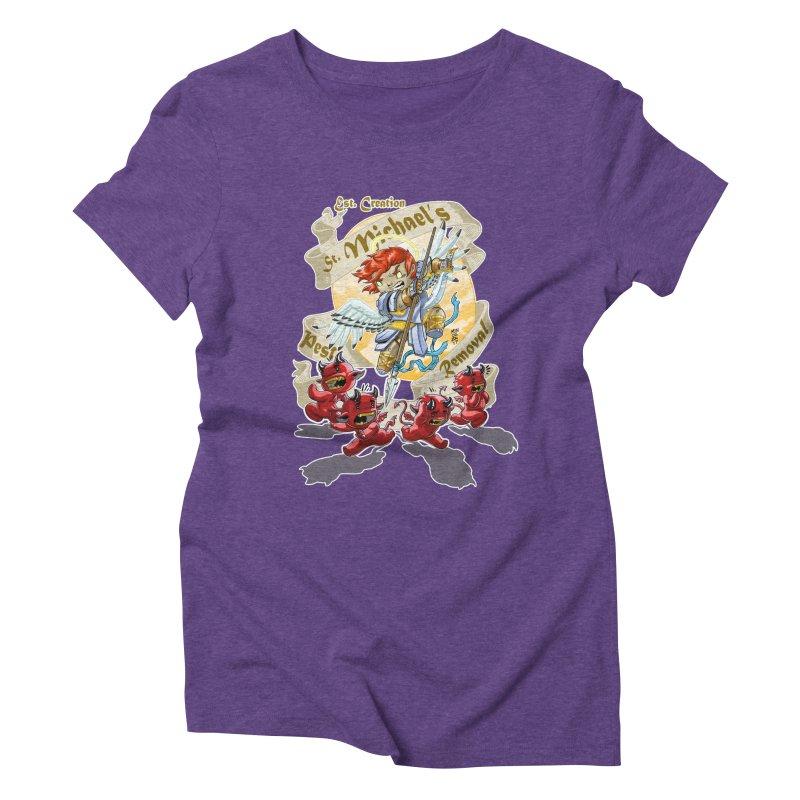 St. Michael's Pest Removal Women's Triblend T-Shirt by Little Ninja Studios