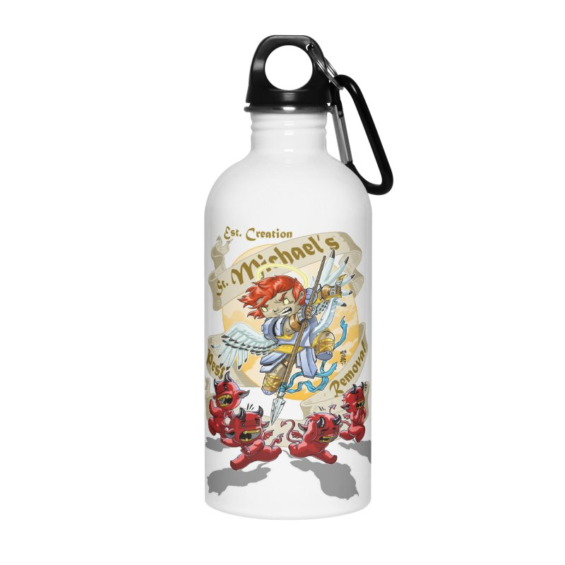 St. Michael's Pest Removal Accessories Water Bottle by Little Ninja Studios, LLC