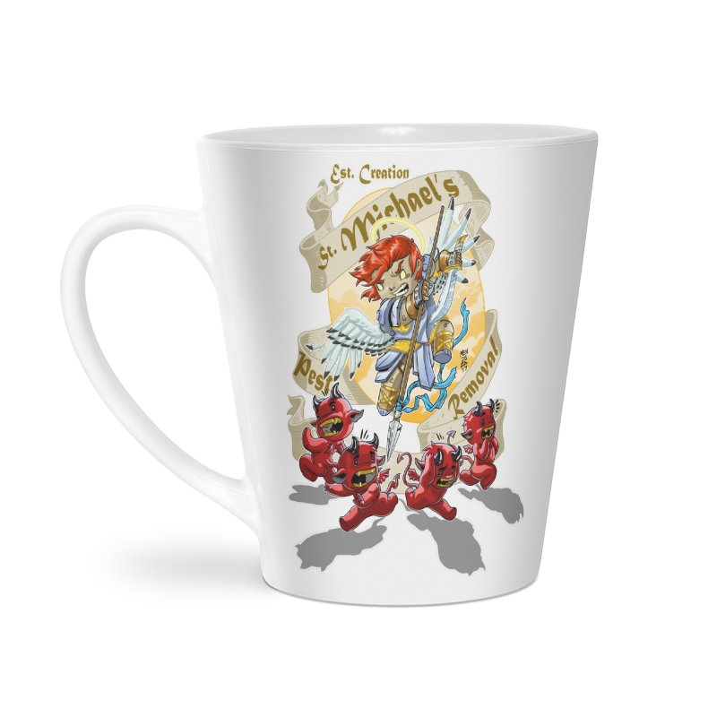 St. Michael's Pest Removal Accessories Latte Mug by Little Ninja Studios, LLC