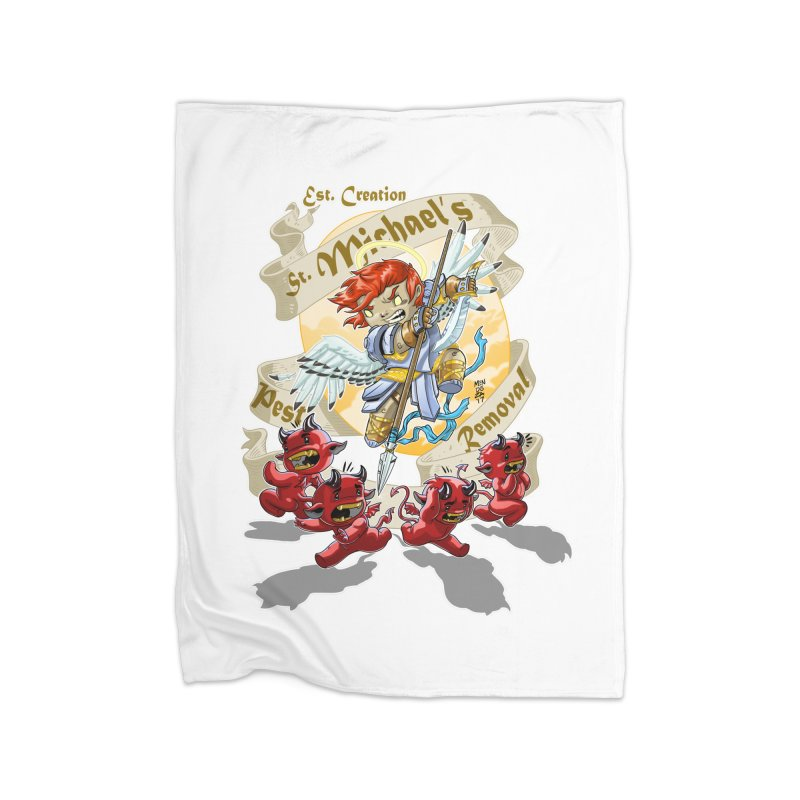 St. Michael's Pest Removal Home Fleece Blanket Blanket by Little Ninja Studios, LLC