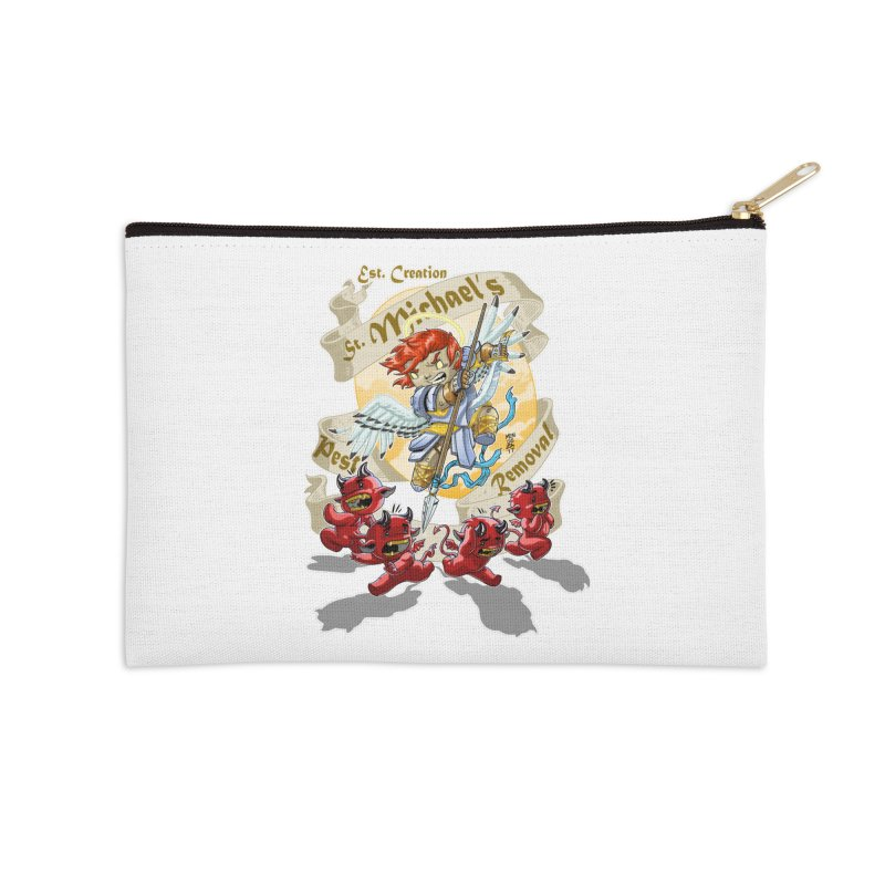 St. Michael's Pest Removal Accessories Zip Pouch by Little Ninja Studios, LLC