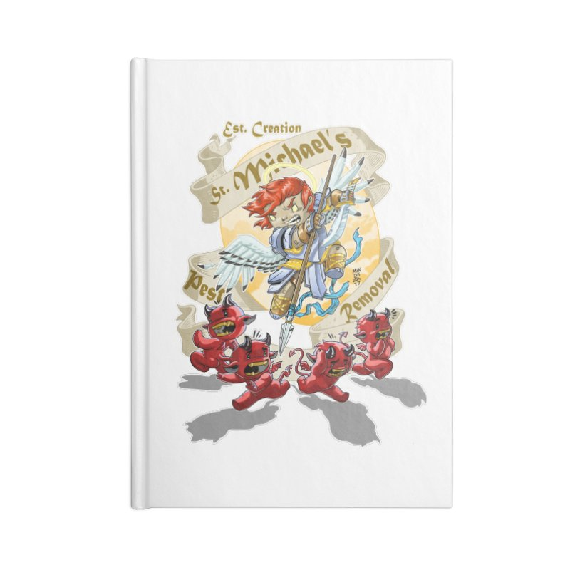 St. Michael's Pest Removal Accessories Blank Journal Notebook by Little Ninja Studios, LLC