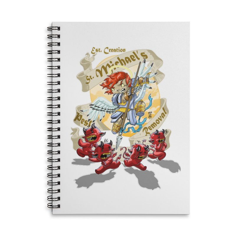 St. Michael's Pest Removal Accessories Lined Spiral Notebook by Little Ninja Studios, LLC