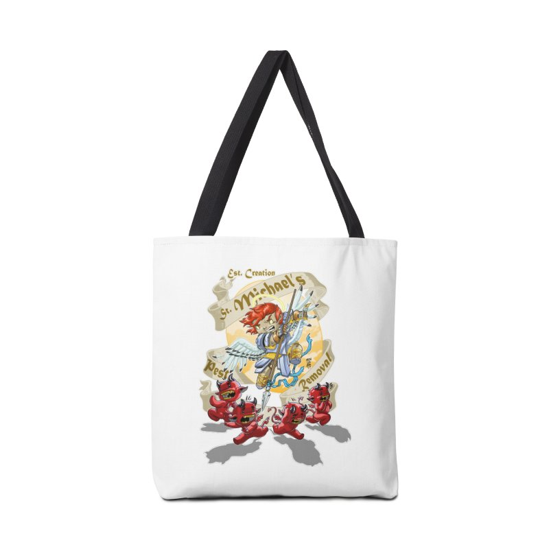 St. Michael's Pest Removal Accessories Tote Bag Bag by Little Ninja Studios