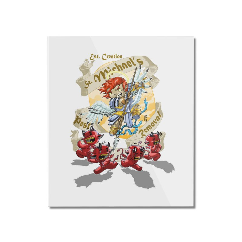 St. Michael's Pest Removal Home Mounted Acrylic Print by Little Ninja Studios, LLC