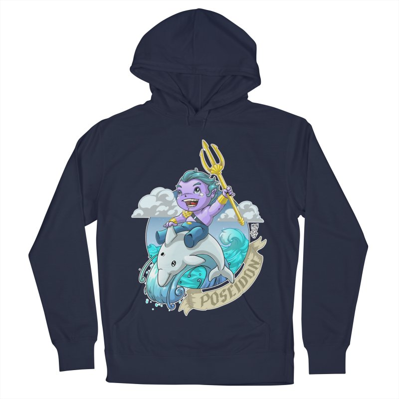 Poseidon! WEEEEEEE!!!! Women's French Terry Pullover Hoody by Little Ninja Studios, LLC