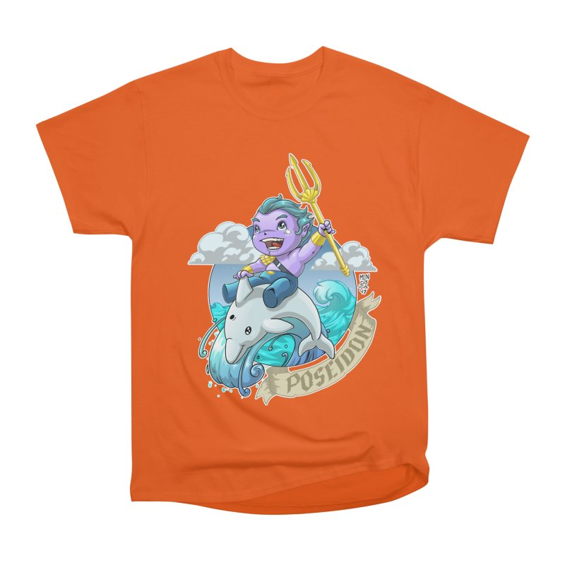Poseidon! WEEEEEEE!!!! Women's Heavyweight Unisex T-Shirt by Little Ninja Studios, LLC