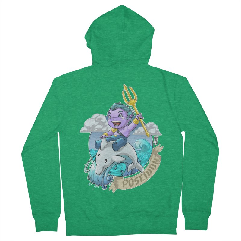 Poseidon! WEEEEEEE!!!! Women's Zip-Up Hoody by Little Ninja Studios
