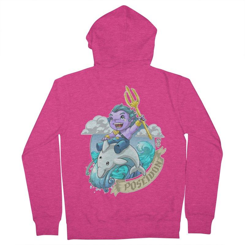 Poseidon! WEEEEEEE!!!! Women's French Terry Zip-Up Hoody by Little Ninja Studios, LLC