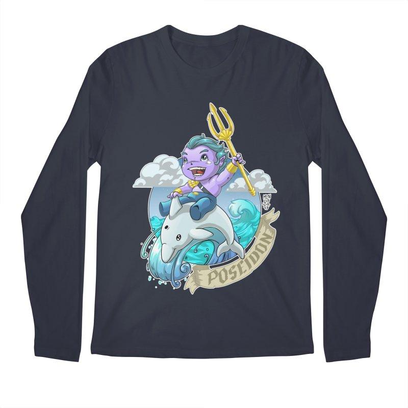 Poseidon! WEEEEEEE!!!! Men's Regular Longsleeve T-Shirt by Little Ninja Studios, LLC