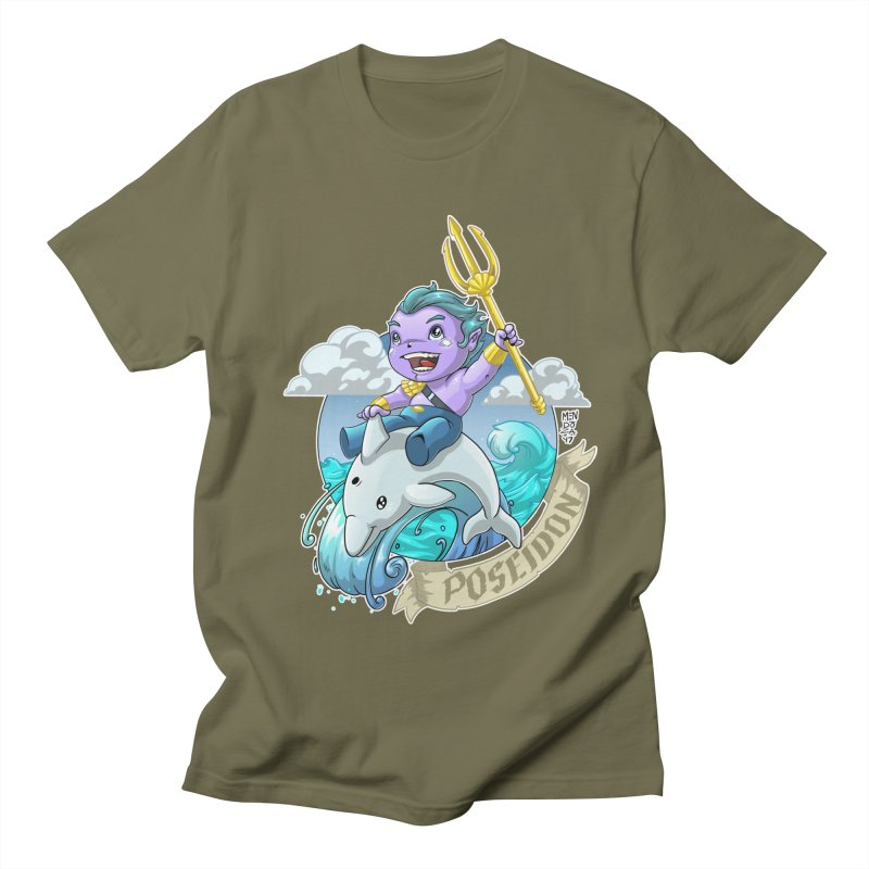Poseidon! WEEEEEEE!!!! Women's Regular Unisex T-Shirt by Little Ninja Studios, LLC