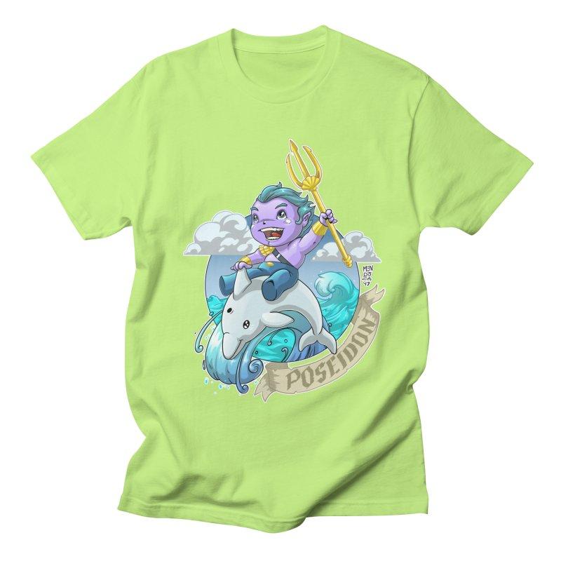 Poseidon! WEEEEEEE!!!! Men's Regular T-Shirt by Little Ninja Studios, LLC