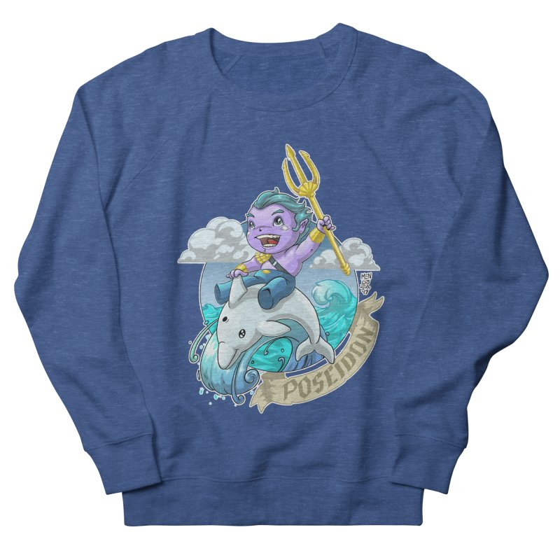 Poseidon! WEEEEEEE!!!! Women's French Terry Sweatshirt by Little Ninja Studios, LLC