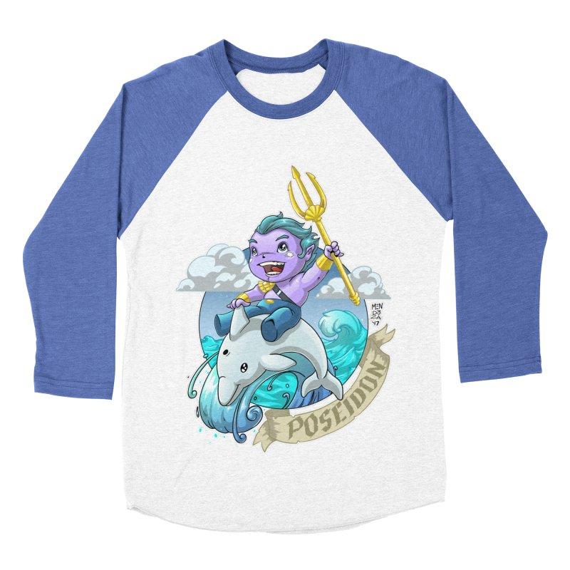 Poseidon! WEEEEEEE!!!! Women's Baseball Triblend Longsleeve T-Shirt by Little Ninja Studios