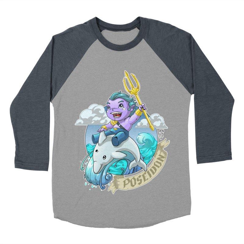 Poseidon! WEEEEEEE!!!! Women's Baseball Triblend Longsleeve T-Shirt by Little Ninja Studios, LLC