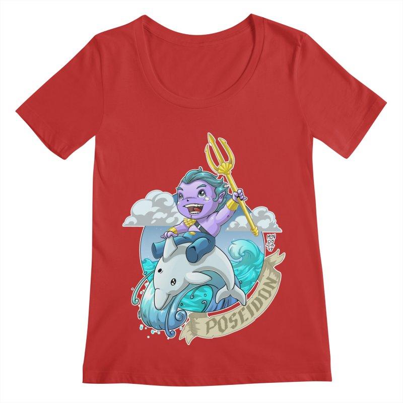 Poseidon! WEEEEEEE!!!! Women's Regular Scoop Neck by Little Ninja Studios