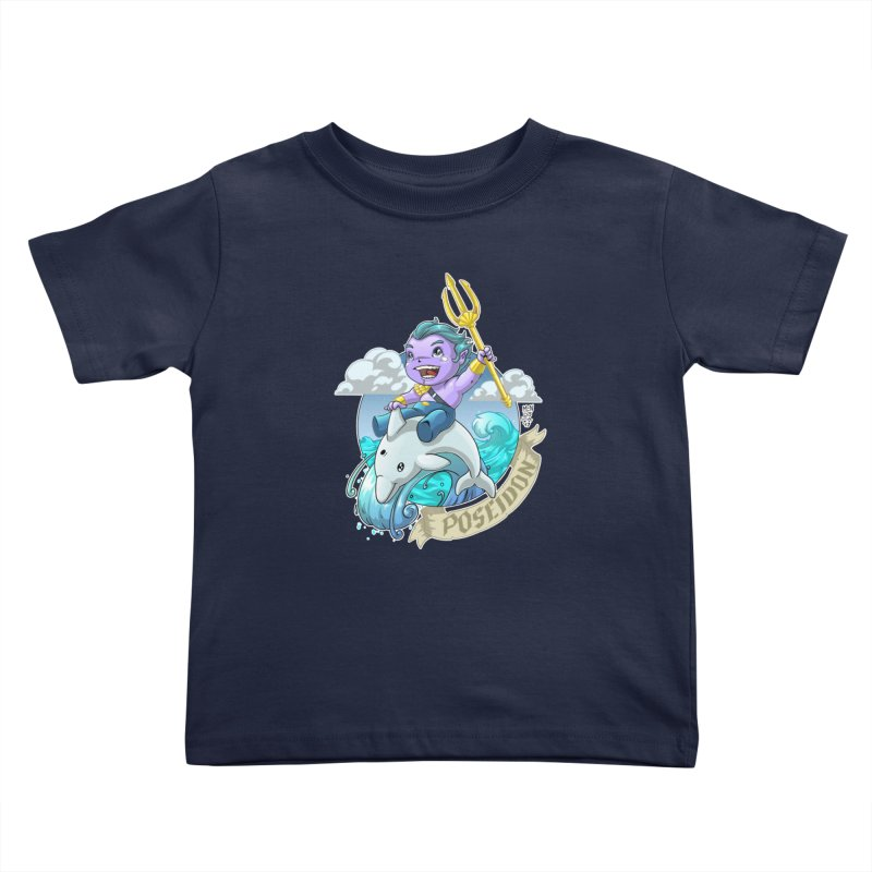 Poseidon! WEEEEEEE!!!! Kids Toddler T-Shirt by Little Ninja Studios