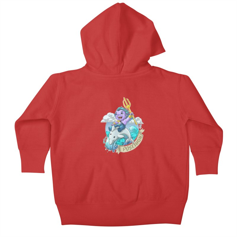 Poseidon! WEEEEEEE!!!! Kids Baby Zip-Up Hoody by Little Ninja Studios