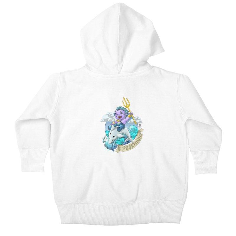 Poseidon! WEEEEEEE!!!! Kids Baby Zip-Up Hoody by Little Ninja Studios, LLC