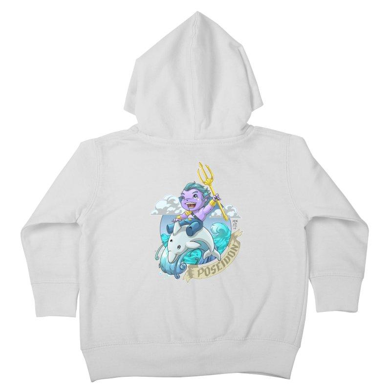 Poseidon! WEEEEEEE!!!! Kids Toddler Zip-Up Hoody by Little Ninja Studios, LLC