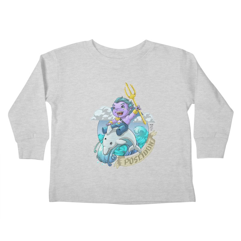 Poseidon! WEEEEEEE!!!! Kids Toddler Longsleeve T-Shirt by Little Ninja Studios, LLC