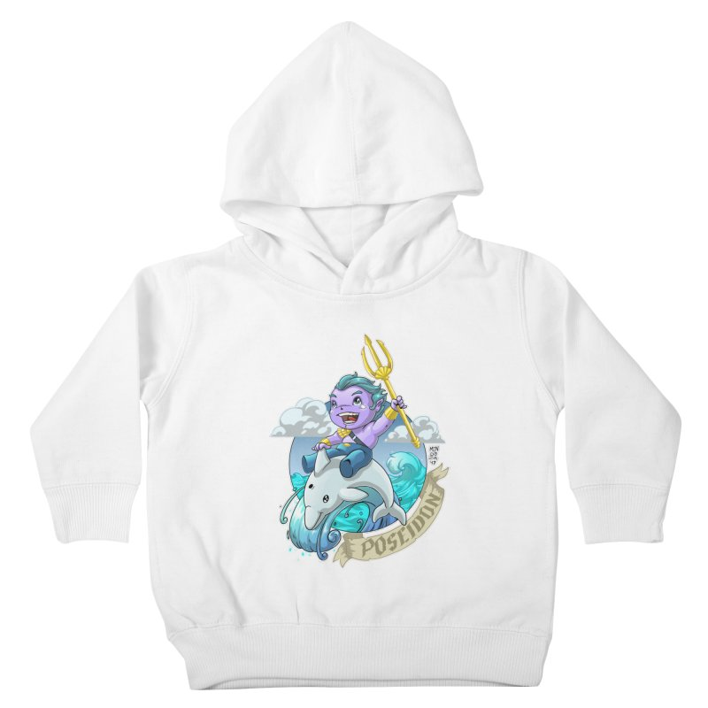 Poseidon! WEEEEEEE!!!! Kids Toddler Pullover Hoody by Little Ninja Studios, LLC