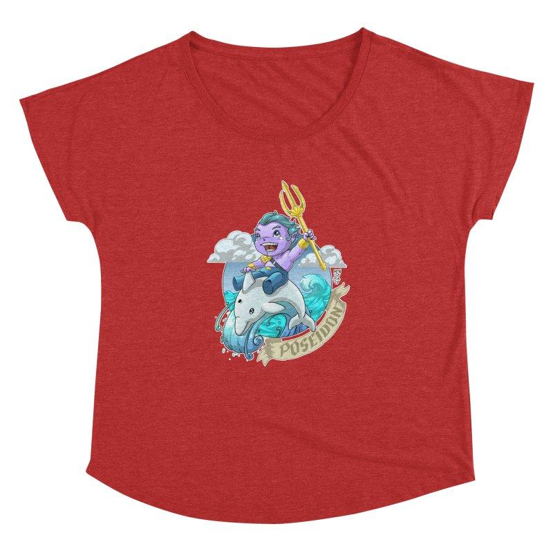 Poseidon! WEEEEEEE!!!! Women's Dolman Scoop Neck by Little Ninja Studios