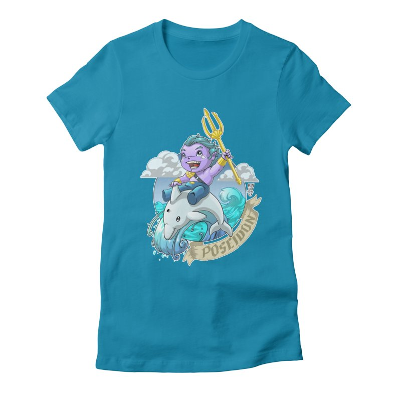 Poseidon! WEEEEEEE!!!! Women's T-Shirt by Little Ninja Studios