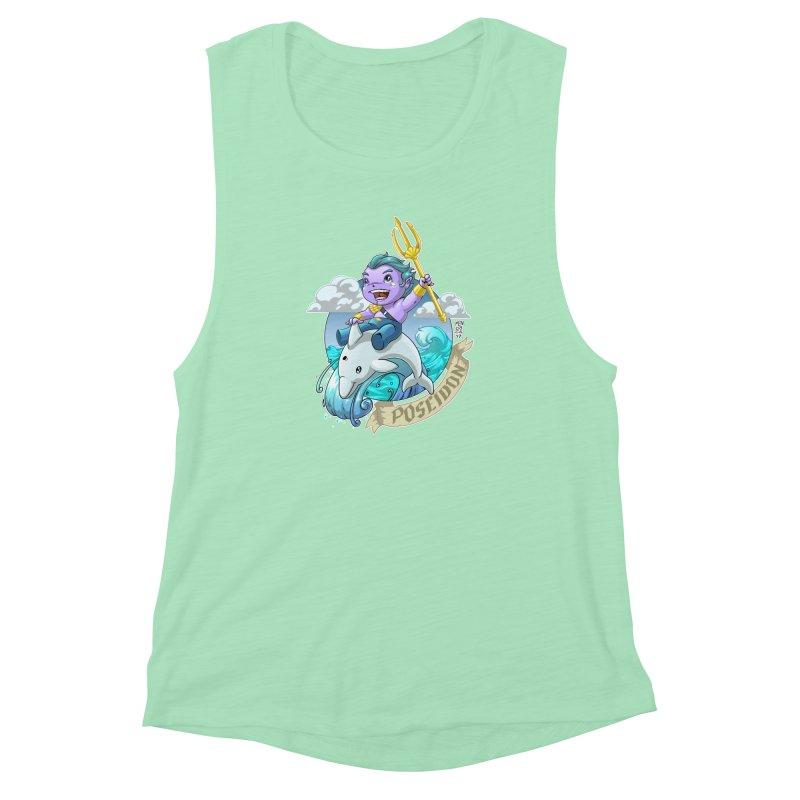 Poseidon! WEEEEEEE!!!! Women's Muscle Tank by Little Ninja Studios, LLC