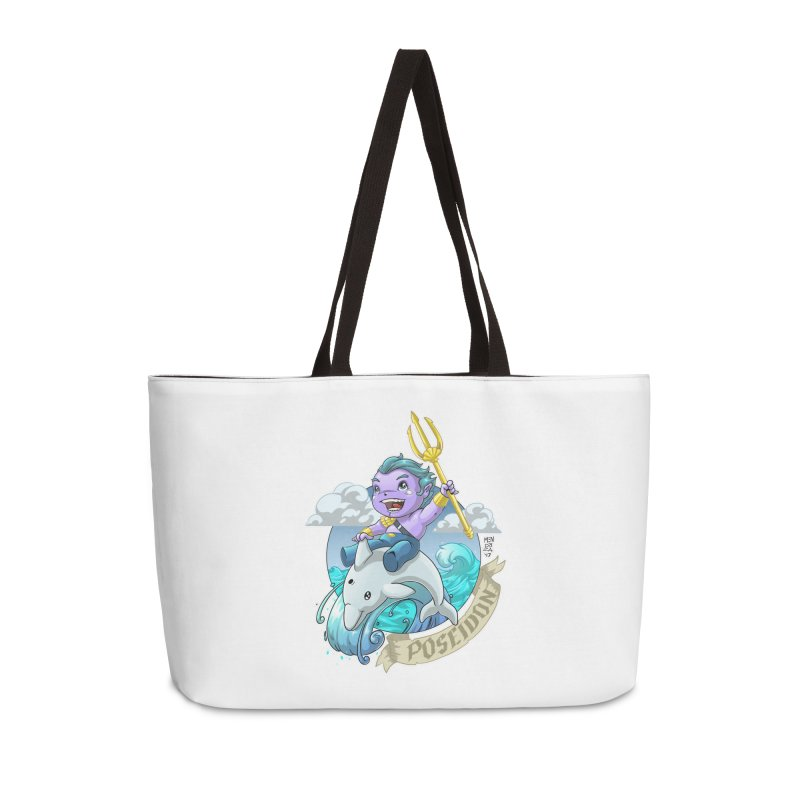 Poseidon! WEEEEEEE!!!! Accessories Bag by Little Ninja Studios