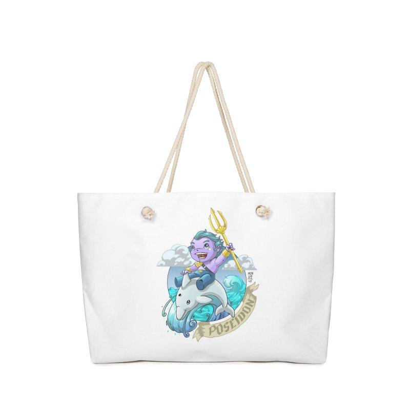 Poseidon! WEEEEEEE!!!! Accessories Bag by Little Ninja Studios