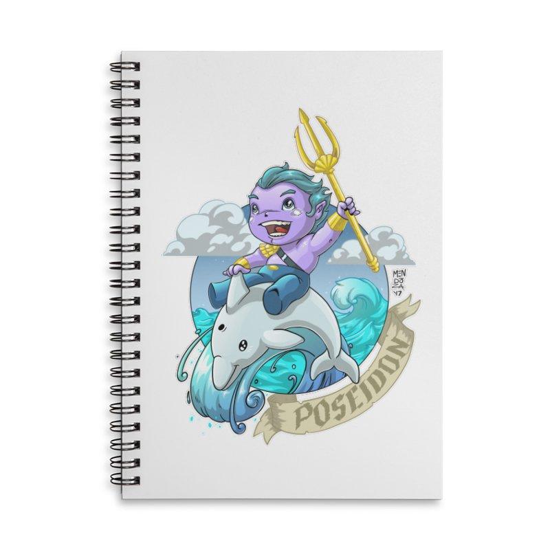 Poseidon! WEEEEEEE!!!! Accessories Lined Spiral Notebook by Little Ninja Studios, LLC